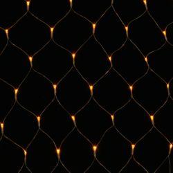 [은하수] 200구 투명선 LED 그물네트 웜색 지니전구