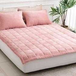 테라 핑크 극세사 패드 - 160x210cm