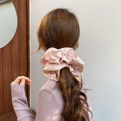 빅사이즈 실크 스크런치 곱창끈 새틴 머리끈 헤어슈슈 6color
