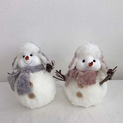 당근코 눈사람 인형 장식소품 크리스마스 데코