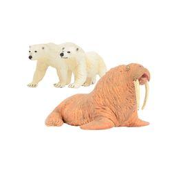 북극곰&바다코끼리 동물피규어 세트(273429273329248729)