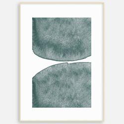 패브릭  캔버스 인테리어 현대미술 추상화 그린블루B [A3]