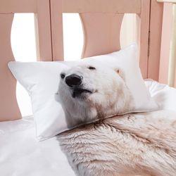 [알몽]북극동물들 신생아 누빔베개커버 20 X 35