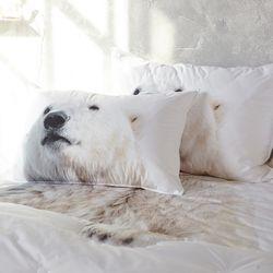 [알몽]북극동물들 누빔베개커버 50x70