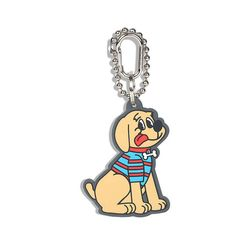 Country Dog Rubber Key Ring Beige