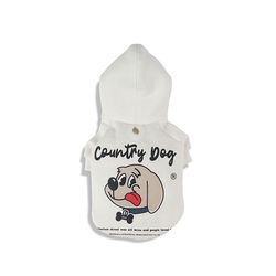 Country Dog Hoody For Dog White