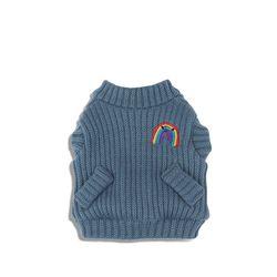 Rainbow Knit Cardigan Teapot Blue