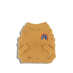 Rainbow Knit Cardigan Amber Yellow