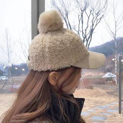소프트 폼폼 뽀글이 볼캡 모자 5color