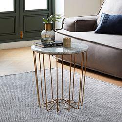 천연대리석 벨라 원형 거실 사이드 테이블