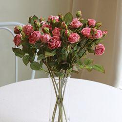 로맨틱한 자나장미 가지 - 인테리어조화 실크플라워