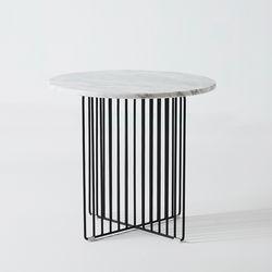 천연대리석 메르시 거실 원형 사이드 티 테이블