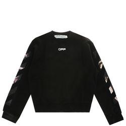 [오프화이트]블랙 카라바조 오버사이즈 남성 스웨트 셔츠