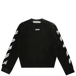 [오프화이트]블랙 에어포트 오버사이즈 남성 스웨트 셔츠
