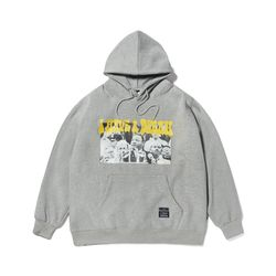 KING OVERSIZED HEAVY SWEAT HOODIE GREY