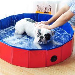 강아지 접이식 수영장 욕조-소형 (pt)