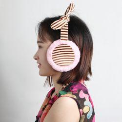 스트라이프 리본 귀마개