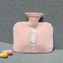 레터링 보온 물주머니(800ml) (핑크)