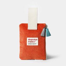마약 스트랩 파우치 코듀로이 - Orange