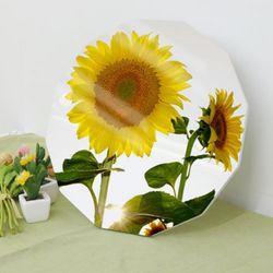da113-폼아크릴액자38CmX38Cm12각형따뜻한해바라기꽃