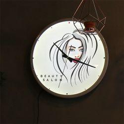nf466-LED시계액자35R뷰티살롱