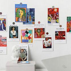 러프 명화 포스터카드 15종세트 모음