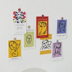 러프 명화 포스터카드 15종세트 B앙리마티스