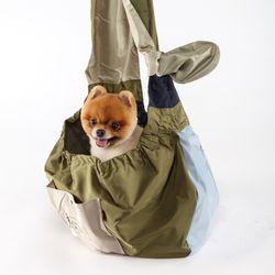 강아지 라이트 애착 슬링백 포대기 안아주개 이동가방 숄더백