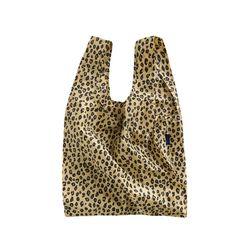 [바쿠백] 휴대용 장바구니 접이식 시장가방 Honey Leopard