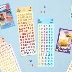 아이코닉 젤리 알파벳 숫자 스티커