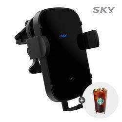 스카이 필 W4 오닉스 15W 차량 무선충전기 SKY-W4NX