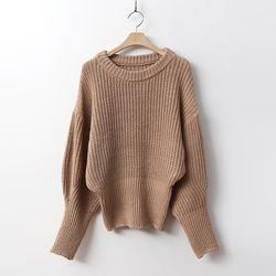 Puff Crop Round Knit
