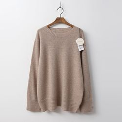 Maille Raccoon Angora Wool Round Sweater