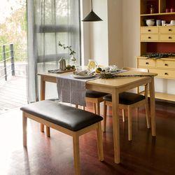 장미맨숀 고메 4인용 식탁세트 (의자2개+벤치1개)