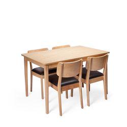 장미맨숀 고메 4인용 식탁세트 (의자4개)