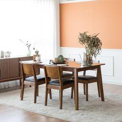 장미맨숀 고메 와이드 4인용 6인용 식탁세트 (의자4개)