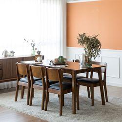 장미맨숀 고메 와이드 4인용 6인용 식탁세트 (의자6개)