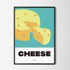 치즈 M 유니크 디자인 인테리어 포스터 식당 A3(중형)
