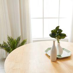 슬로우 고무나무 무늬목 원형 테이블