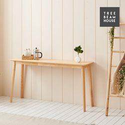 슬로우 고무나무 무늬목 라운딩 1200 홈바 테이블