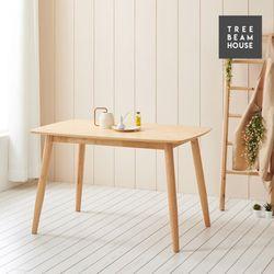 슬로우 고무나무 무늬목 라운딩 1200 테이블