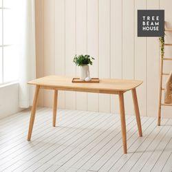 슬로우 고무나무 무늬목 라운딩 1400 테이블