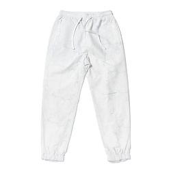 KEIL ZIPPER JOGGER PANTS MARBLE WHITE