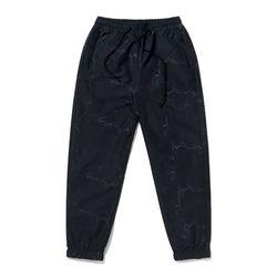 KEIL ZIPPER JOGGER PANTS MARBLE BLACK