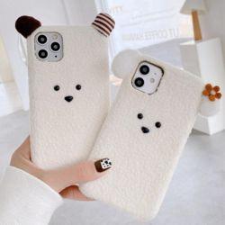 아이폰11 PRO SE2 XS 8 7 입체 동물 겨울 뽀글이 패브