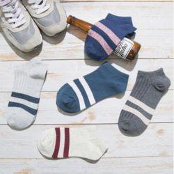 키밍 줄무늬 발목 양말 운동 남여공용 삭스 패션 발목