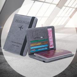 키밍 컬러 여권 케이스 RFID 다용도 카드지갑 출입증