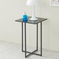 [UFO]하우스틸 모네 강화유리 침대 협탁 사이드 테이블
