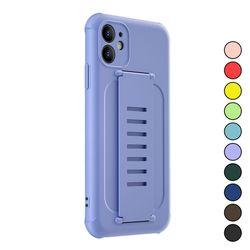 아이폰XS 심플 파스텔 컬러 패션 실리콘 케이스 P186