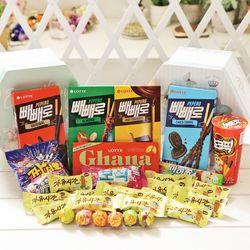 플라워육각박스(대) 막대과자 데이 수능 초콜릿 선물